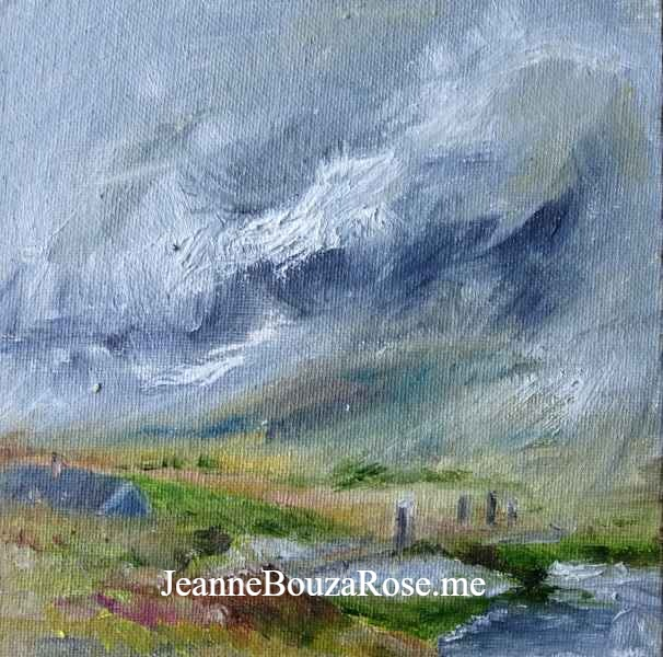 Jeanne Bouza Rose plein air oil: Trench T