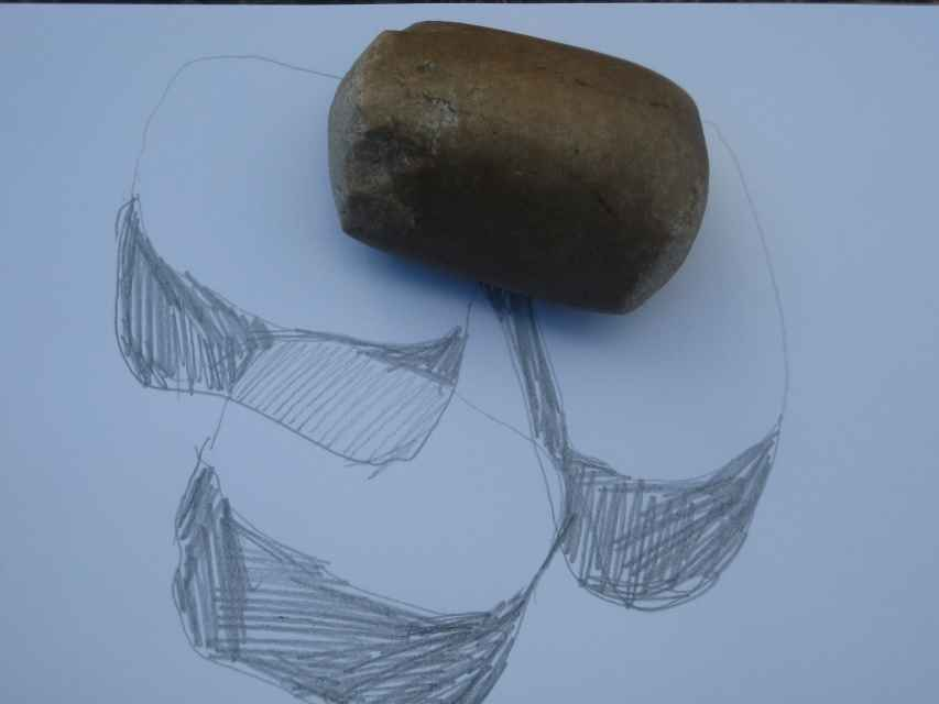 Stones of the Ness -Sketch by Jeanne Bouza Rose